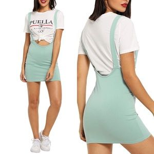 💋 HIPSTER MINT SUSPENDER PENCIL SKIRT *NWT* 💋